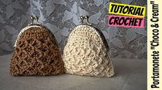 "Tutorial portamonete uncinetto ""Choco & Cream"" | How to make a coin purse || Katy Handmade - YouTube"