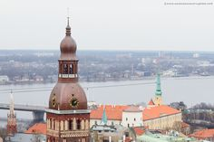 For breathtaking panoramic views over Riga, head over to St.Peter's Church Tower #travelblog #Riga #Latvia #visitLatvia #visitRiga #citybreak #cityscape #travelphotography #wanderlust #exploretheworld #architecture