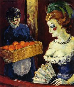 Femme et vendeuse d'oranges, Kees van Dongen, (1877-1965)  Date : circa 1905-1910