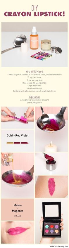 Crayon lipstick- will remember this for Halloween when I'm looking for specific colors!
