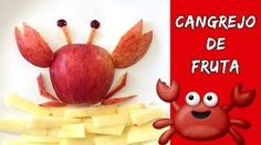 Cangrejo de fruta * MERIENDAS FÁCILES y rápidas para niños - YouTube