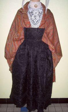 Costume avec châle de cachemire Bretagne