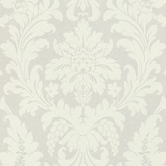 Damask by Albany - Opal White - Wallpaper : Wallpaper Direct Damask Wallpaper, Wallpaper Paste, White Wallpaper, Main Colors, True Colors, Neutral Colors, Colours, Vanity Fair, White Damask