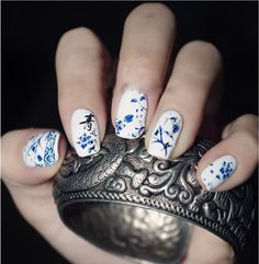 Nail Stamping Plate China Flower