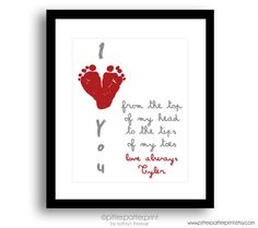 Valentines Day Gift for New Dad Gift for by PitterPatterPrint