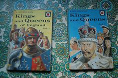 two Vintage Ladybird books 1 and 2 Kings and Queens of England series 561