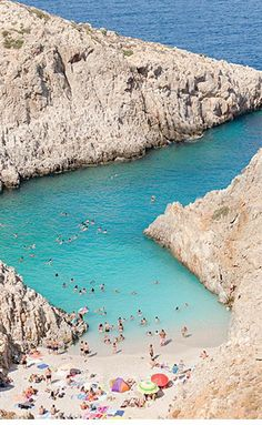 Now this is a swimming hole! Better yet, this cove in Greece is a secret spot. It's name is Seitan Limania...shhh!