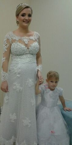 Vestido de noiva para gestante Noivas by Noemy Guadagnin