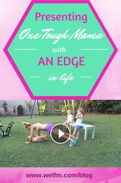 This mom is simply amazing and extremely motivating!  Watch her.  ~www.welfm.com/blog