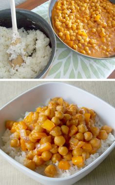 Coconut Curry Garbanzo Beans - chickpeas in a flavorful coconut curry sauce. #vegetarian #vegan