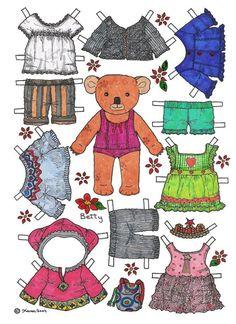 BETTY BEAR 1 OF 2  | Огромная подборка кукол от Karen_ животные_ дети  RUSSIAN = LARGE SELECTION OF DOLLS From Karen | ANIMALS and CHILDREN