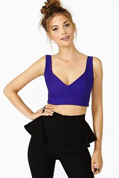 Night Heat Crop Tank - Purple | Shop Tops at Nasty Gal
