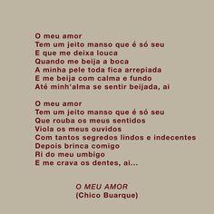 O Meu Amor (Chico Buarque) #lyrics
