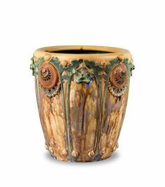 Louis Majorelle (1859-1926) - Mougin - Jardiniere. Stoneware. Nancy, France. Circa 1900.