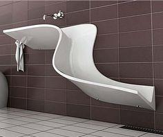Lavabos de diseño y lavamanos de tendencia de decoración..