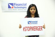 #FTIL Employees protesting against NSEL-FTIL Forced Merger