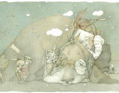 "Illustrations for children's book ""Little rabbit without a ticket"" / by Anastasiya Sokolovskaya"