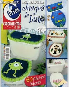 Revistas de manualidades Gratis: Moldes para juegos de baño