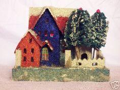 Antique Christmas village house