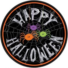 These adorable spider frenzy paper lunch plates are perfect for any type of Halloween party because they are cute and full of fun! Use for your delicious Halloween meal and snacks! Only $2.99 from #Parties2order