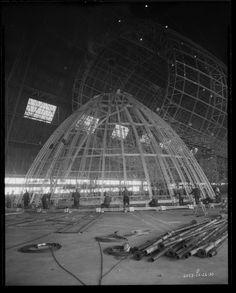 Construction de l'USS Akron (18) mise en forme du nez