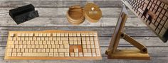 Exclusive and personalized homemade wooden products with country of origin: keyboards, tablet and mobile phone holders, wooden jars... Available in oak, cherry or pear wood. Further information on your request: crolander.keyboards@gmail.com