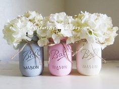 Distressed Mason Jars Painted Mason Jars Mason by MyHeartByHand