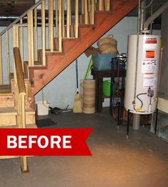 Before And After Drab To Dapper Basement Makeover RemodelingBasement IdeasGarage IdeasUnfinished BasementsBasement FinishingBasement
