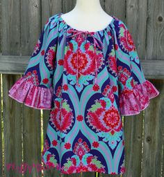 Download Devon Peasant Top/Dress for Women - Sizes XS(0-2)-3X(26W) Sewing Pattern | Featured Products | YouCanMakeThis.com
