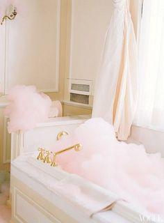 pink bubble bath. love