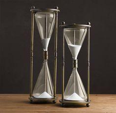 Vintage Brass Hourglass