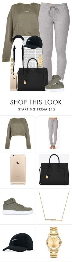 """Goodnight everyone "" by livelifefreelyy ❤ liked on Polyvore featuring Faith Connexion, Forever 21, Yves Saint Laurent, NIKE, ZoÃ« Chicco, Movado and ASOS"