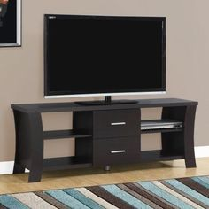 ... Rotating Media Storage Tower Expresso. See More. From EBay · Monarch TV  Stand With 2 Drawers, For TVu0027s Up To 60 InchL, Brown