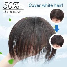 Invisible Seamless Head Bangs Reissue Wig - All About Hair Indian Hairstyles, Hairstyles With Bangs, Bangs Hairstyle, 100 Human Hair, Human Hair Wigs, Natural Wigs, Hair Toppers, Hair Cover, Short Hair Wigs
