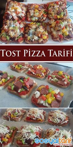 Food and drink pizza Pizza Recipes, Brunch Recipes, Snack Recipes, Bruschetta, Turkish Recipes, Ethnic Recipes, Turkish Breakfast, Eat Pizza, Breakfast Items