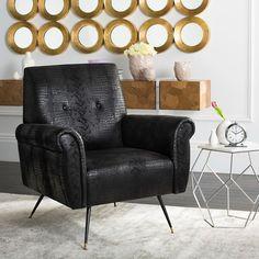 Sittingbourne Retro Mid Century Faux Leather Armchair