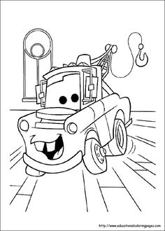 Coloring pages from Cars & Cars 2    Disney's site also has coloring pages