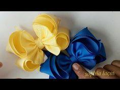 Making Hair Bows, Diy Hair Bows, Diy Bow, Ribbon Hair, Bow Hair Clips, Ribbon Bows, Fabric Bows, Fabric Flowers, Hair Bow Tutorial
