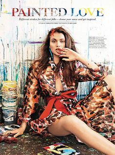 Painted Love: Chloe Lecareux Gets Colorful in SHOP Magazine Spread