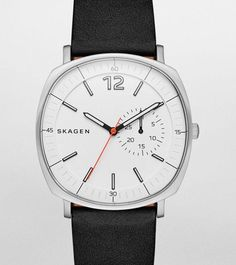6e0995df75d0 Skagen  Rungsted  Leather Strap Watch