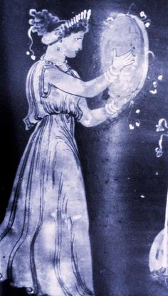 Greek Godess Cybele playing the frame drum