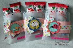 Sweet treat Valentine goodie bags for #GlueArts by @Grace Tolman