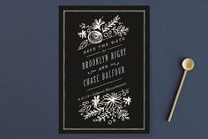 """""""English Garden"""" - Floral & Botanical, Whimsical & Funny Save The Date Postcards in Cream by Jennifer Wick."""