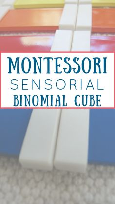 Learn the Magic of the Montessori Binomial Cube! The Binomial Cube physically represents a math equation & lays the foundation for math learning. Math Activities For Kids, Preschool Math, Math For Kids, Fun Math, Kindergarten, Montessori Homeschool, Montessori Classroom, Montessori Activities, Homeschooling