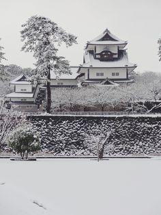 Kanazawa Castle in the Snow #japan #ishikawa