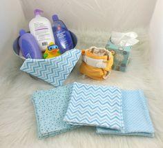 Cloth Wipes, Washcloths, Burp Cloths, Handkerchiefs in Chevrons, Dots, Diamonds Set of 15 by HeavenBoundHCA, $12.75 USD