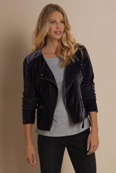 Velvet Moto Jacket - Velvet Jacket, Velvet Motorcycle Jacket | Soft Surroundings
