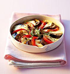 Tian d'aubergines et tomates à la mozzarella