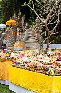 Offering in Bali Hindu temple by Nvelichko, via Dreamstime