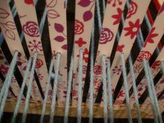 $2 DIY loom - FIBER ARTS
